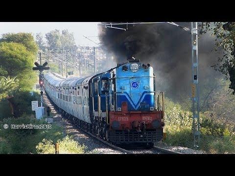 rarest-tnp-twin-alco's-bleeding-blue-:-indian-railways-22601-chennai-express