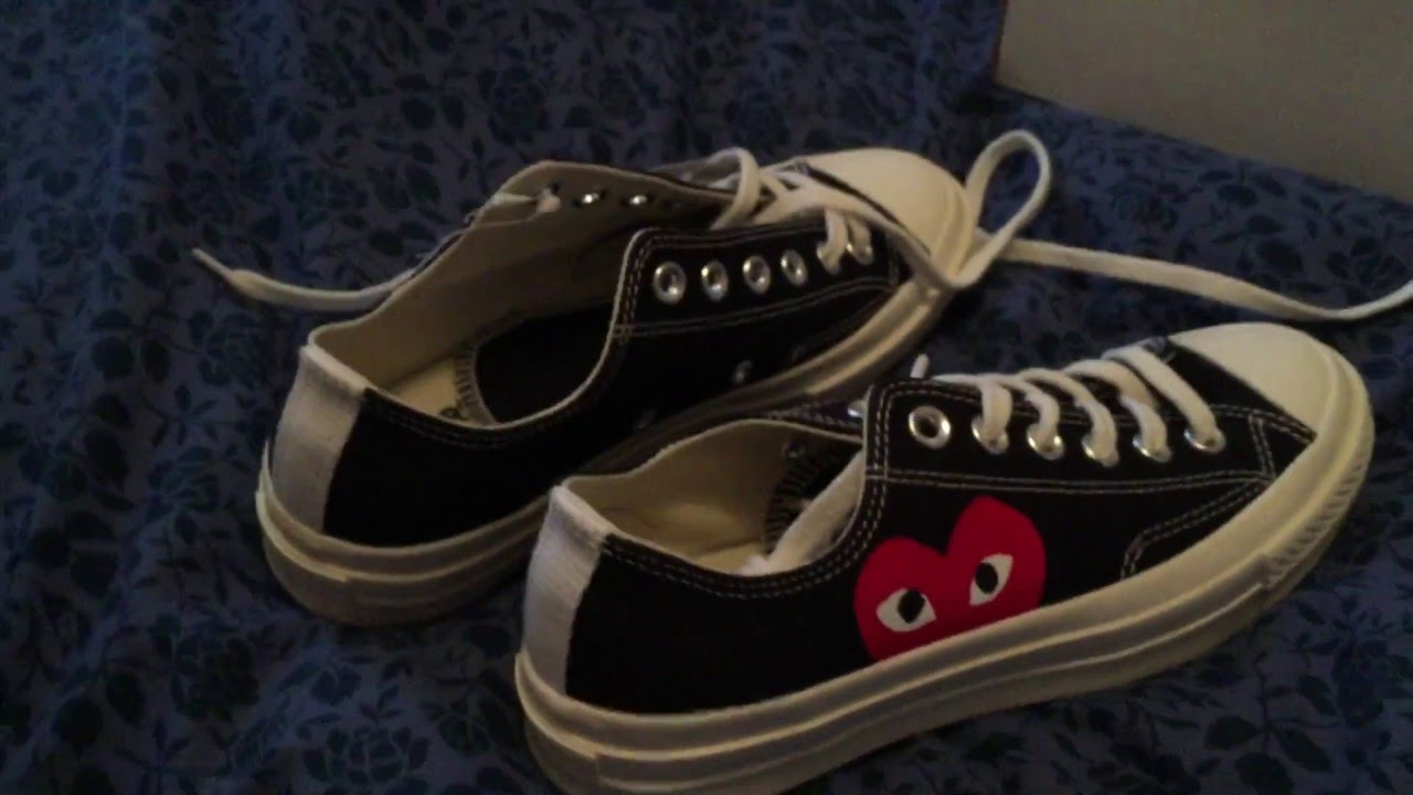 1da5417e7c8a Play CDG x Converse Unboxing and Review - YouTube