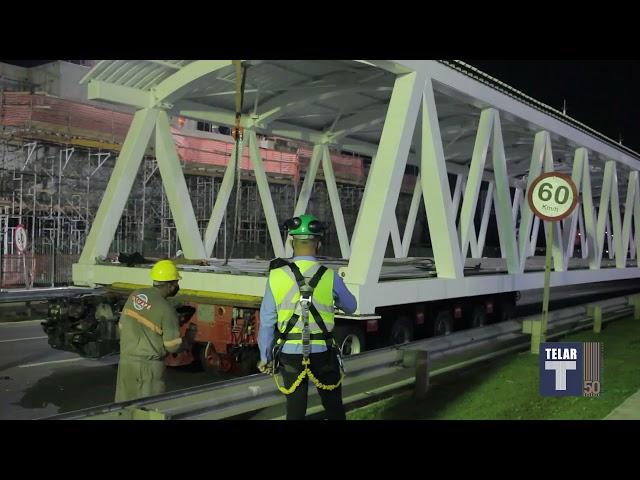 Instalação da passarela de acesso à futura Estação João Dias