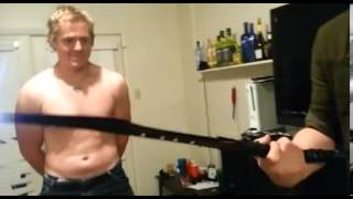 Man builds a 'taser sword' but electrocutes his friend in fight