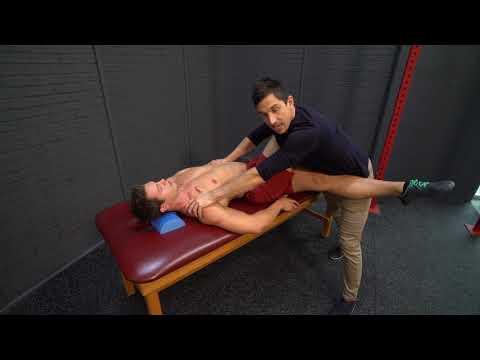 The Best Lower Back Stretch - QL - Quadratus Lumborum MoveU