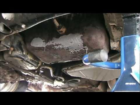 Rusty Oil Pan Repair with JB Weld on a 2002 Pontiac Grand Prix DIY