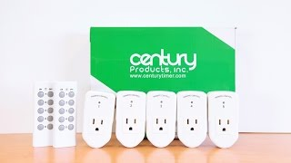 Century Wireless Remote Control Electrical Outlet Switch, White (Fixed Code, 5Rx-2Tx)  BR25