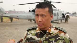 Interview with Nepalese Officer about Earthquake Relief Efforts