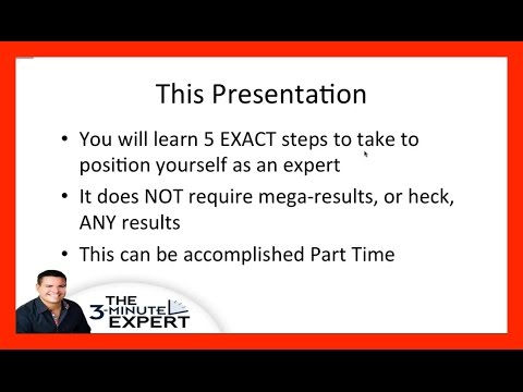The 3 Minute Expert - Becoming an Authority Online with Ray Higdon