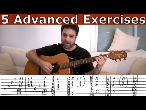 5 Advanced Fingerstyle Exercises  Guitar Lesson Tutorial w TAB