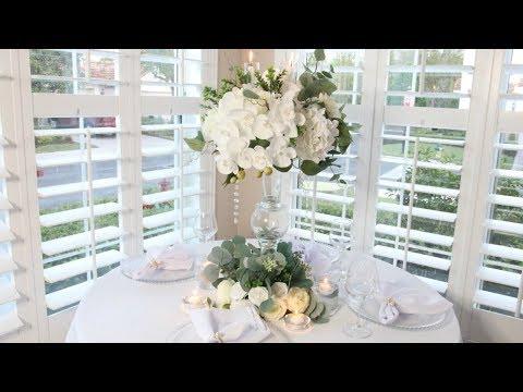 white-flower-spring-diy-wedding-centerpiece|dollar-tree