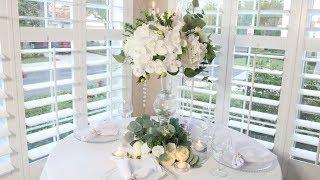 White Flower Spring DIY Wedding Centerpiece Dollar Tree