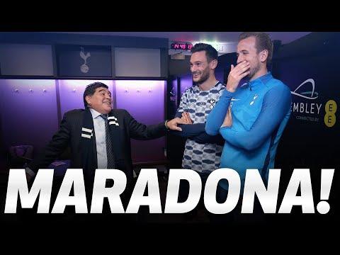 MARADONA | Mauricio Pochettino, Harry Kane and Hugo Lloris meet Diego Maradona