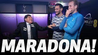 MARADONA | Mauricio Pochettino, Harry Kane and Hugo Lloris meet Diego Maradona