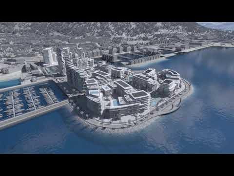 Gibraltar proyecto nuevos rellenos sobre el mar