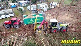 Huning Umwelttechnik beim Holz hacken mit Claas Xerion 3300 VC Trac und Heitling Push Master 40