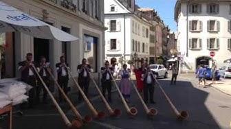 Cors des alpes - marché folk Vevey