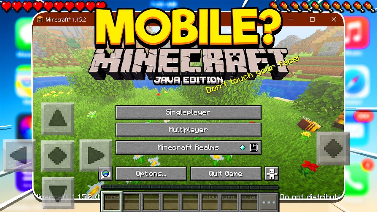JAVA EDITION FOR MOBILE! (Minecraft Pocket Edition)