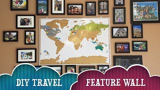DIY Travel Feature Wall | Kmart/Walmart Project | Kavina Sparkles