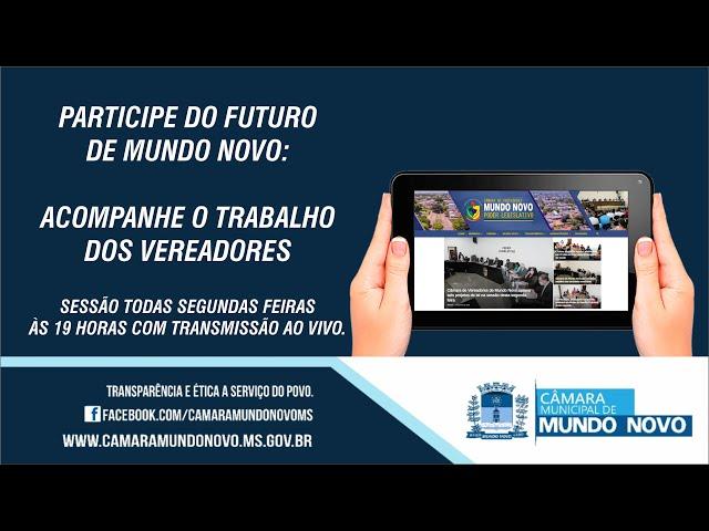 18/10/2021 - SESSÃO ORDINÁRIA DA CÂMARA MUNICIPAL DE MUNDO NOVO-MS