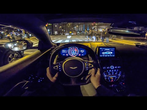 ASTON MARTIN DBS Superleggera NIGHT Drive POV by AutoTopNL