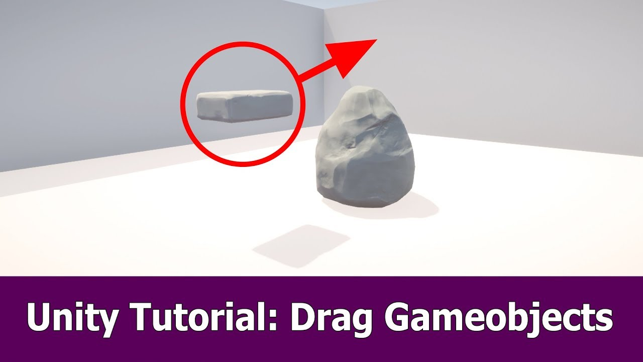 Unity Tutorial : Drag Gameobject with Mouse
