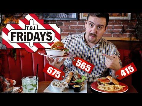 Бургеры в TGI Fridays (Фрайдис). Старая школа. Как сэкономить 25%
