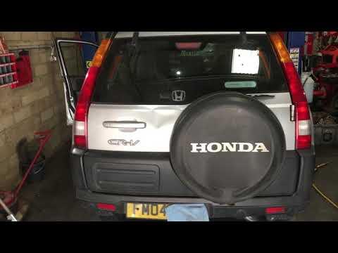 Honda CRV Handbrake Adjuster location