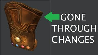 The Roblox Infinity Gauntlet has gone through some Changes