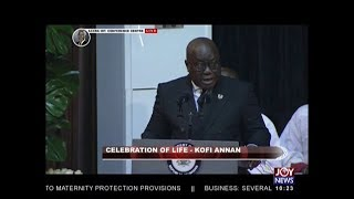 Tribute By The President Of The Republic Of Ghana: Celebrating Kofi Annan on JoyNews (13-9-18)