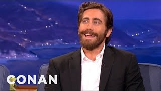 "Jake explains there are only two places on earth where ""Gyllenhaal"" gets pronounced authentically. More CONAN @ http://teamcoco.com/video."