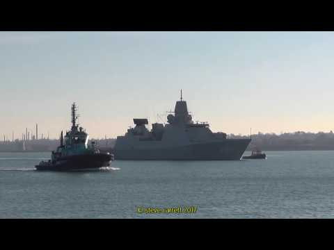 Rare visit of Dutch Royal Navy Ships Southampton Docks 20/01/17