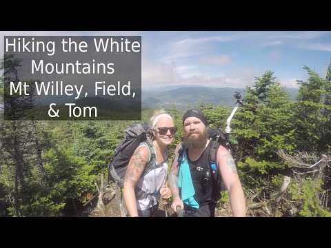 Hiking the White Mountains | Mt Willey Mt Field Mt Tom | NH 4K