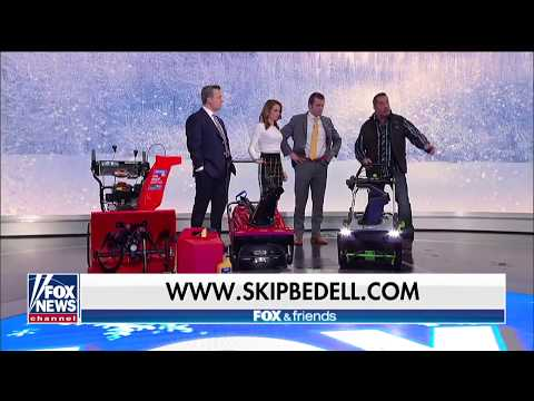 Battery Snow Blowers Vs TORO & Ariens Gas On FOX & Friends With Skip Bedell