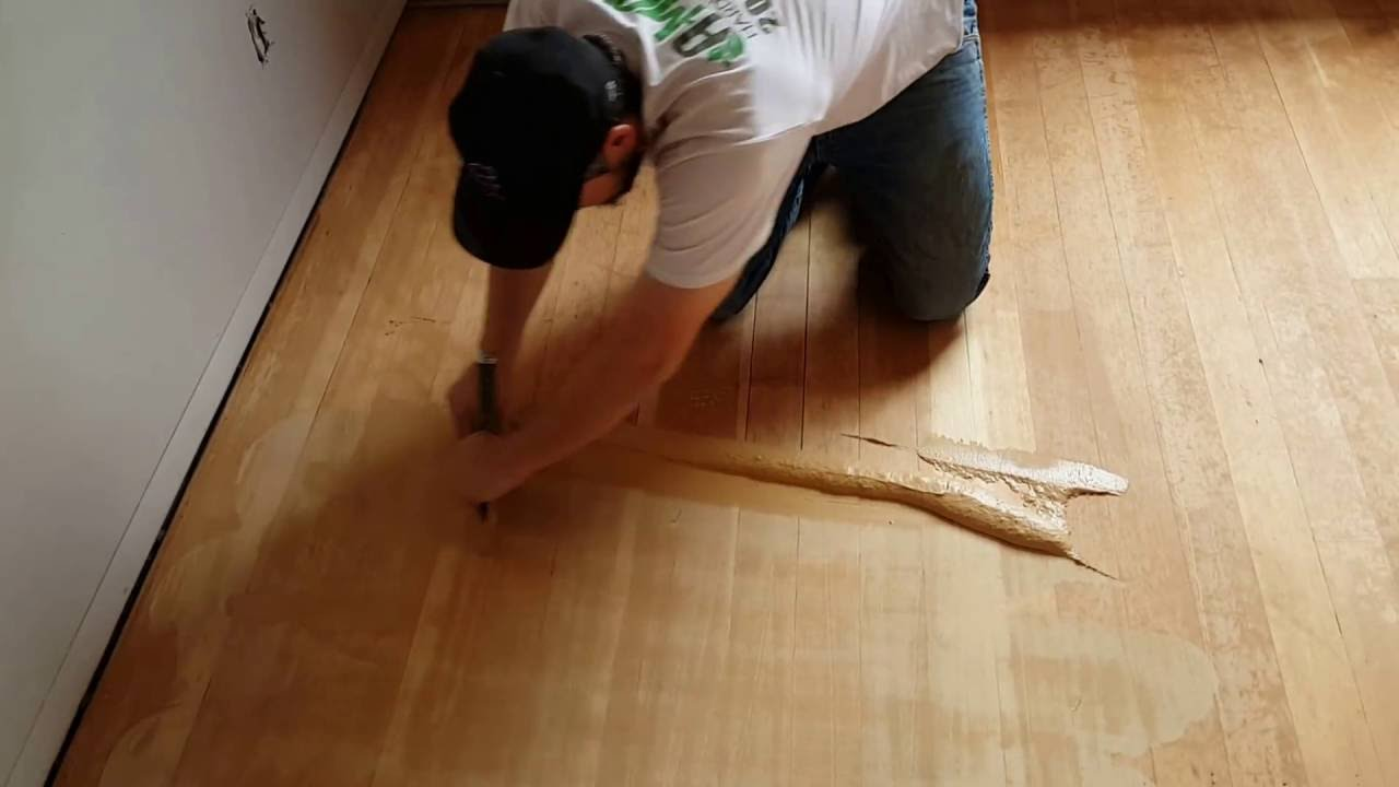 How To Trowel Fill A Wood Floor Effectivly