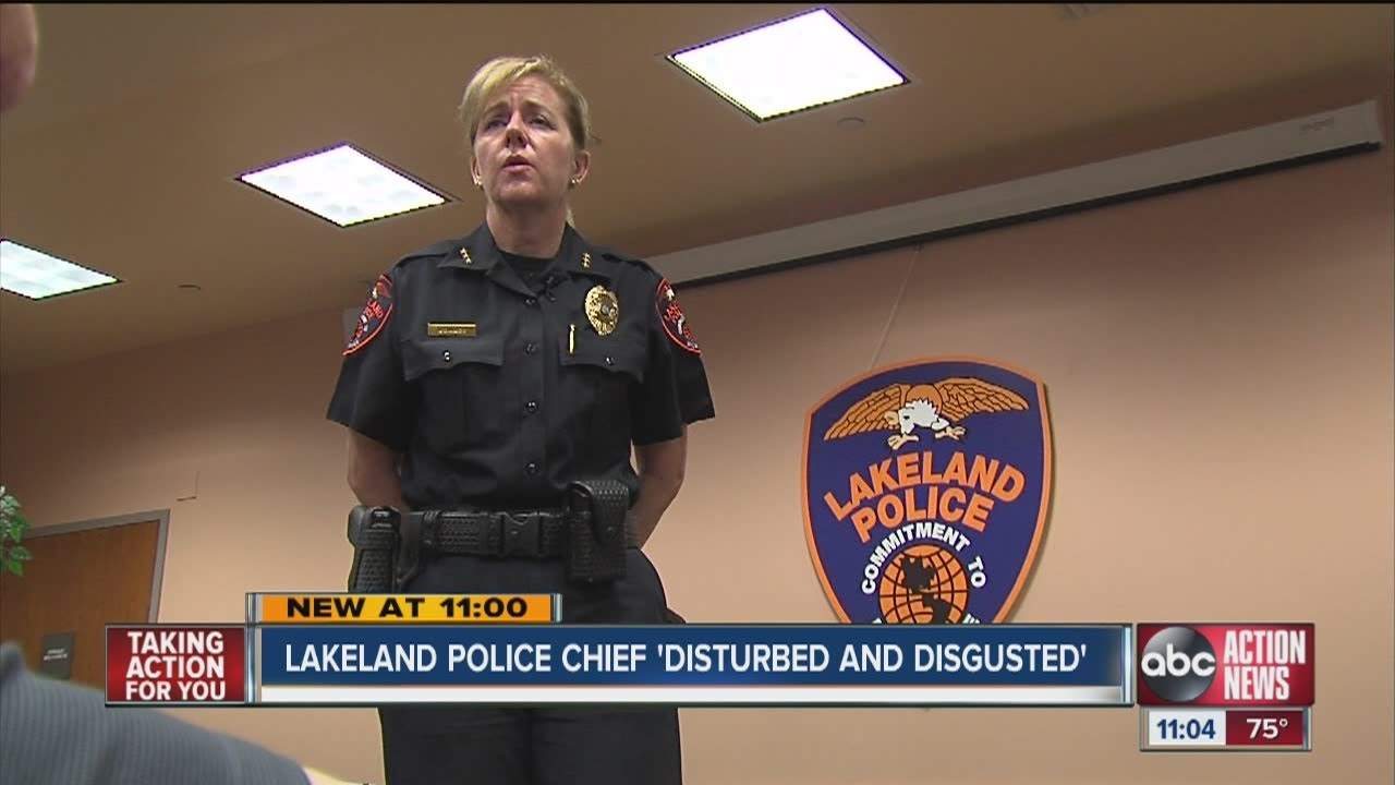 Lakeland Police Chief Lisa Womack says she is disgusted and embarrassed by  a recent sex scandal - YouTube 48e24dc93
