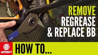 how to remove regrease and replace your bottom bracket   mountain bike mechanics