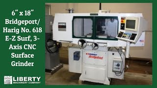 "6"" x 18"" Bridgeport/Harig No. 618 E-Z Surf, 3-Axis CNC Surface Grinder"