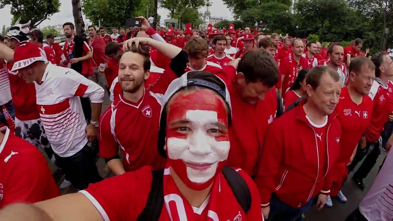 Download Oh Embolo Song | Schweizer Fanmarsch Paris Euro 2016 | Swiss Fans Take Over Paris!