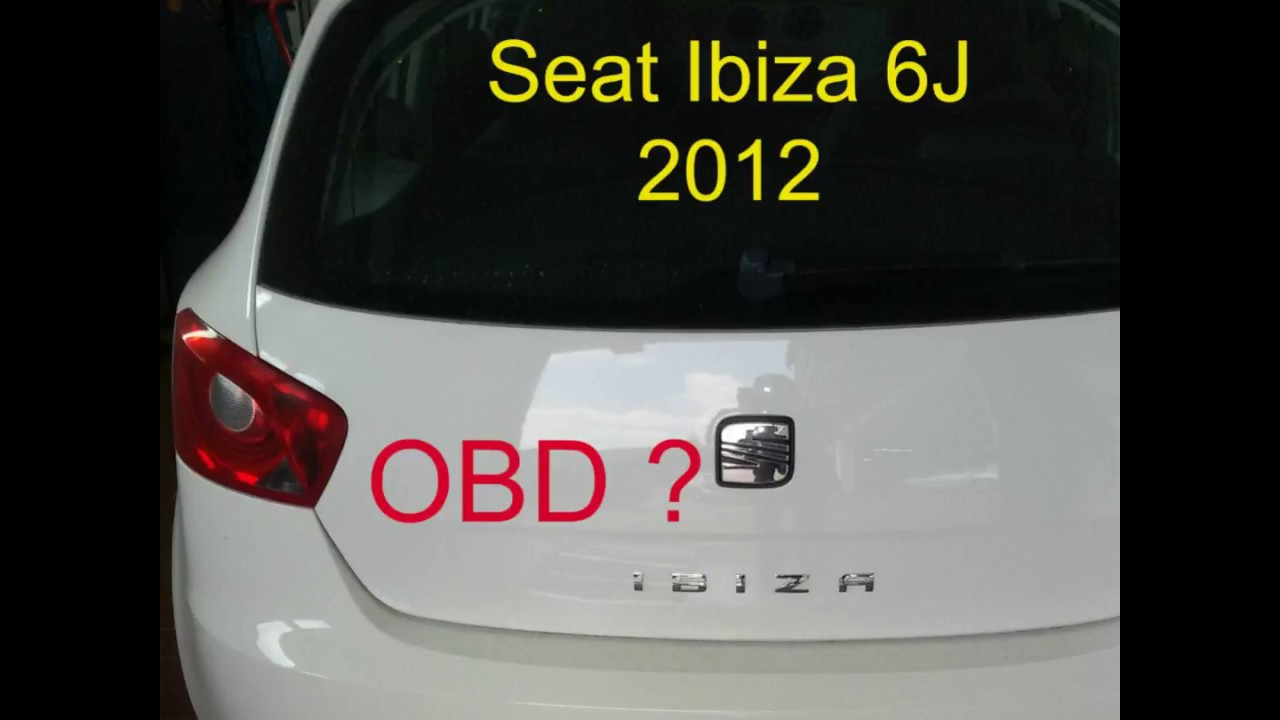 seat ibiza typ 6j von 2012 wo ist die obd steckdose obd location youtube. Black Bedroom Furniture Sets. Home Design Ideas