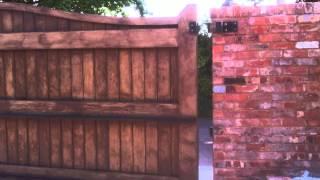 J&a Security Systems Hardwood Timber Sliding Gate Installation With 24v Bft Motor. Exeter, Devon