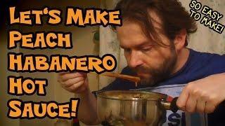 Homemade Peach Habanero Hot Sauce
