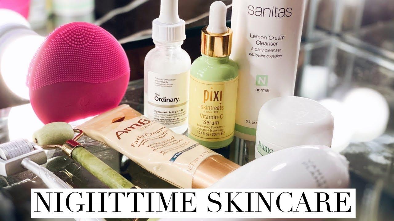 Nighttime skincare routine  Microdermabrasion & Microneedling