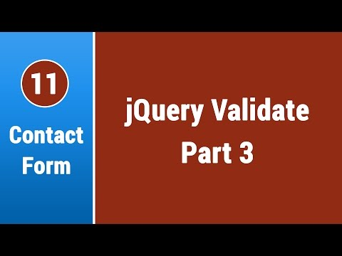 Create Contact Form in Arabic #11 - Validate On Client Side with jQuery Part 3