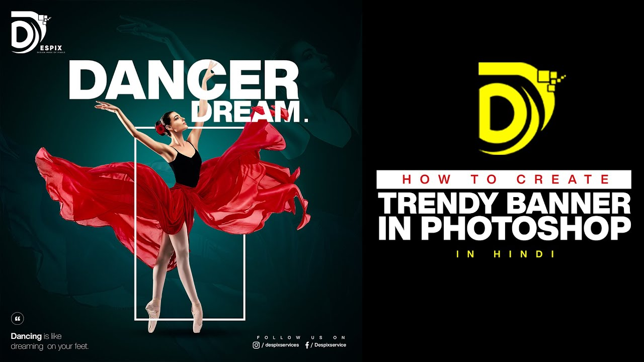 Learn How To Design Dance Poster Or Banner Learn Graphic Design In Photoshop Hindi Youtube