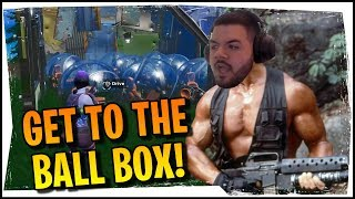 Hysteria | Fortnite - GET TO THE BALL BOX! Squads with CouRage, TrevorMay and BerttheBigHurt