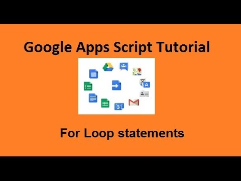 Google apps script for next loop tutorial - Amarindaz