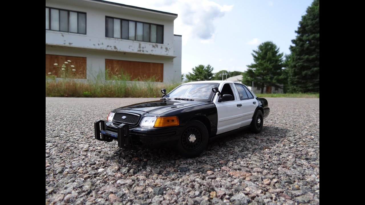 1 18 ford crown victoria unmarked police interceptor by motormax youtube