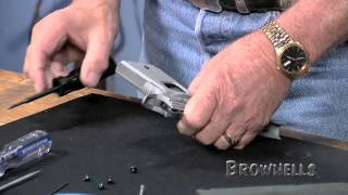 Brownells - Installing a main spring housing/mag well on a 1911