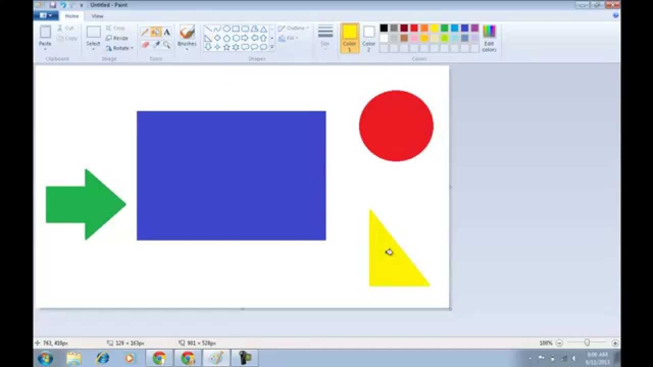 How To Fill Color In MS Paint? - YouTube