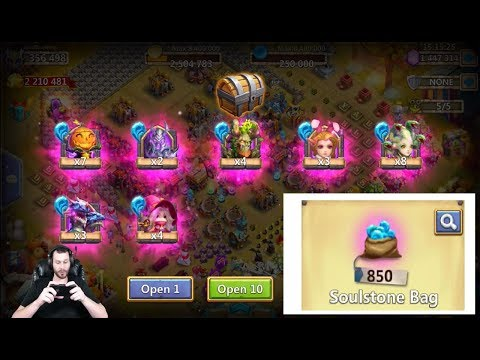 850 SOULSTONE Bags Opening Them All For Heroes Castle Clash