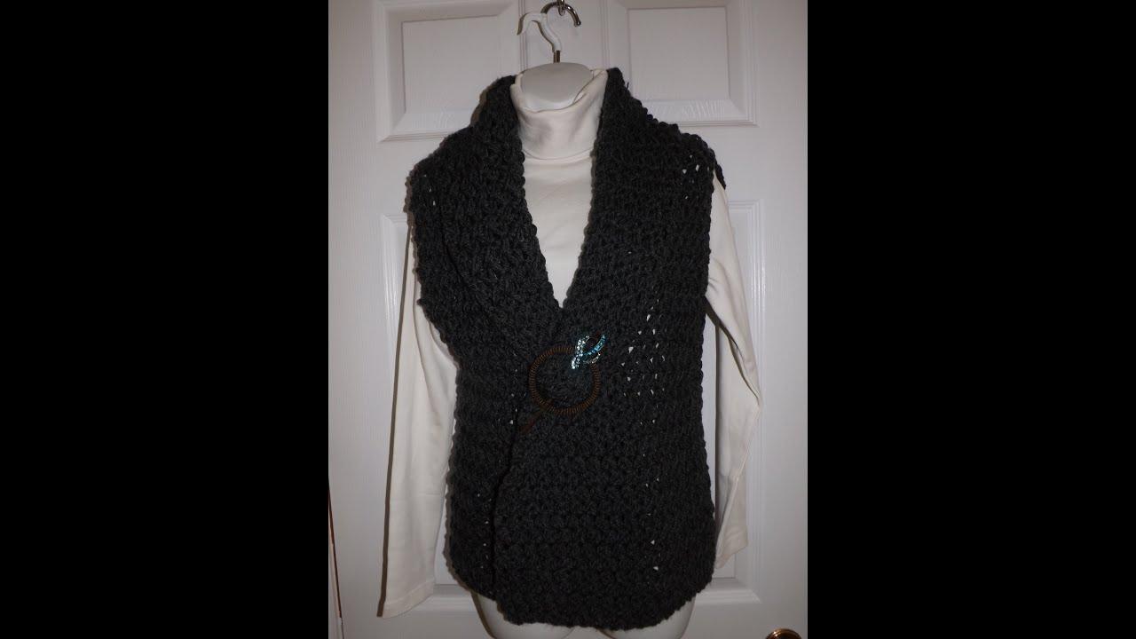 Crochet chaleco o bolero bien facil - con Ruby Stedman - YouTube