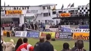 Barry Sheavills vs. Susan Callin - Top Fuel Quarter Finals Santa Pod Main Event 2002