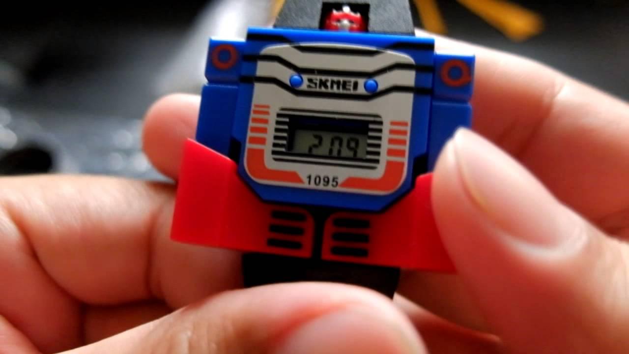 แกะกล่อง\u0026รีวิว นาฬิกาหุ่นยนต์ สำหรับเด็กๆ